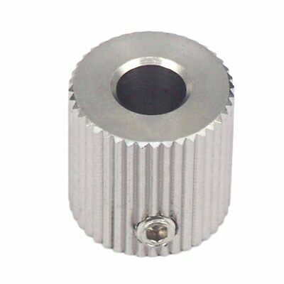 Stainless Steel Gear Extruder Feeder Pulley 3D Printer Parts 40 Teeth Bore 5mm