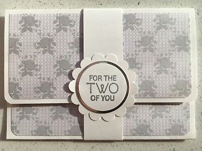HANDMADE WEDDING/ENGAGEMENT gift card holder. Fits credit card sized gift cards.