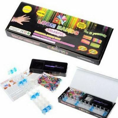 DIY Rainbow Loom Kit 600 Rubber Bands Bracelet Making Full Set + S Clips