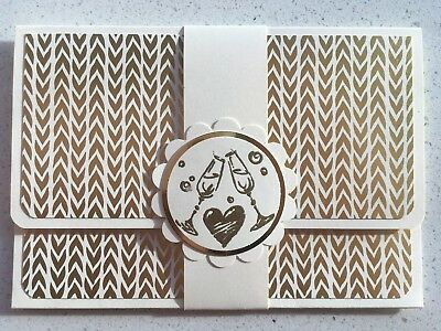 DELUXE GOLD FOIL HANDMADE WEDDING gift card holder.