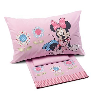 "Completo letto/lenzuola singolo 1 piazza Caleffi Minnie mod.""Patchwork"""