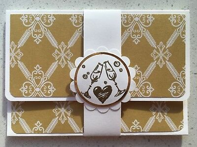 DELUXE HANDMADE WEDDING gift card holder. Fits credit card sized gift cards.