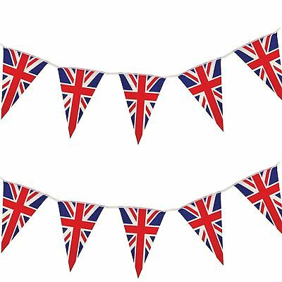 10m Union Jack Triangle 20 Flag Bunting Banner Royal Wedding Party Decorations