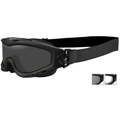 Wiley X Spear Goggles 2 Antiscratch Ballistic Lens Combat Army Matte Black Frame