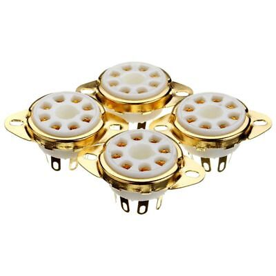 4PC 8 Pin Ceramic Socket Tube Top Vacuum Octal Value For KT88 EL34 6V6 6650 H2S7
