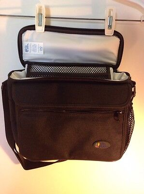Baby The First Years Insulated Cooler Bottle Bag Black w/carrying strap Toddler
