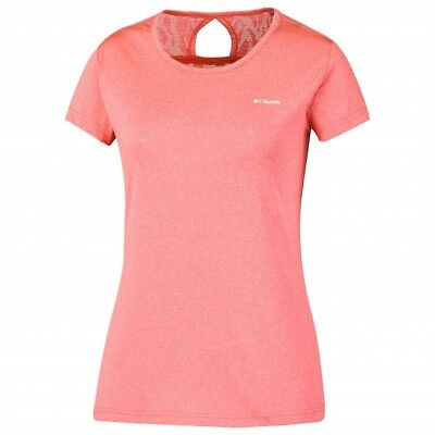 Columbia Peak to Point Novelty shirt orange, t-shirt randonnée et trail femme.