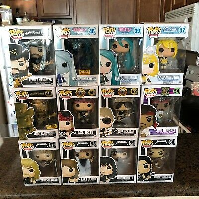Funko Pop! Rocks Music Lot Vaulted/Exclusives