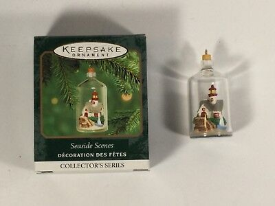 Hallmark Ornament 2000 Seaside Scenes Miniature Ornament Lighthouse in Bottle