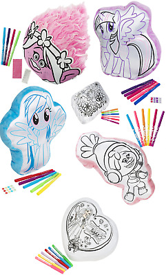 Kids Colour Your Own Cushion,Pillow Trolls,Princess,My Little Pony Girls Gift