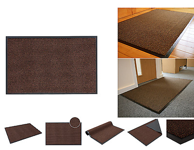 Commodore Brown High Quality Dirt Absorbent Non-Slip Barrier Door Mat 60x120CM