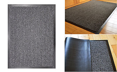 Commodore Grey High Quality Dirt Absorbent Non-Slip Barrier Door Mat 60x120CM