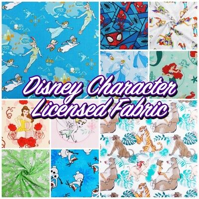 Classic Disney Children's Characters Licensed 100% Cotton Patchwork Craft Fabric