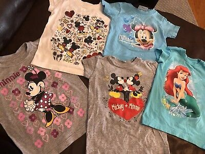 Authentic Disney baby/kid shirts lot of 6 size 2/3 girls~spring summer~toddler
