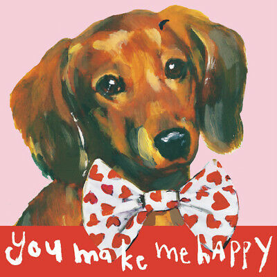 Get well cute Dachshund sausage dog arranges treats to say GET WELL SOON card