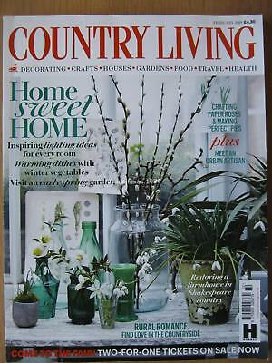 Country Living February 2018 Lighting Ideas Recipes Spring Garden Crafts Travel