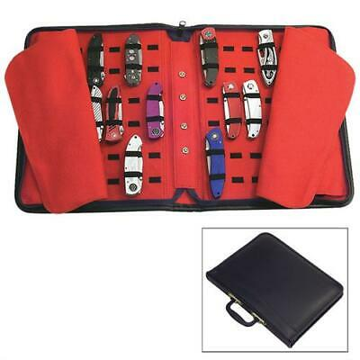 Holds Up To 60 Knives Roll Up Pouch Storage Carry - Folding Knife Carrying Case