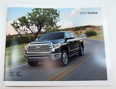 2018 Toyota Tundra Genuine USA Factory Sales Brochure - Just Out! Get it First!