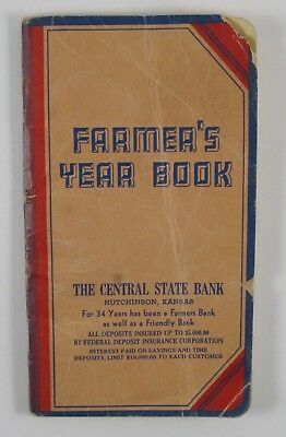 Collectors: Vintage 1950 1951 Farmers Year Book Central State Bank Hutchinson Ks