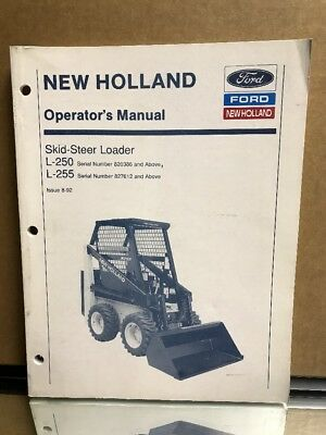 New holland l250 l255 skid steer loader service repair shop new holland ford skid steer loader l 250 255 operators service manual fandeluxe Gallery