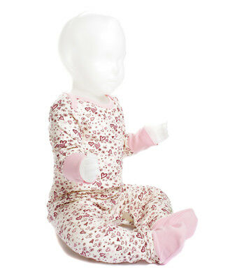 Designer Organic Cotton Girls Natural Romper Suit 6 - 12 months.  Merry Tots UK