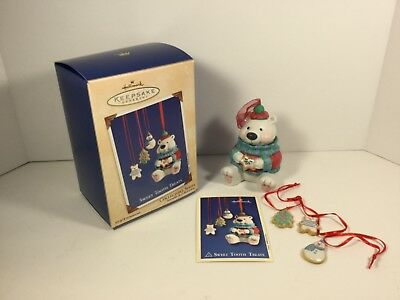 Hallmark Ornament 2002 Sweet Tooth Treats Porcelain Cookie Jar 1st in Series