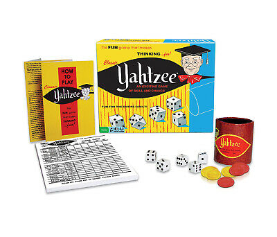 Mozlly Classic Yahtzee (Multipack of 3) Family Board Game