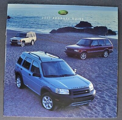 2002 Land Rover Brochure Range Discovery Freelander Excellent Original 02