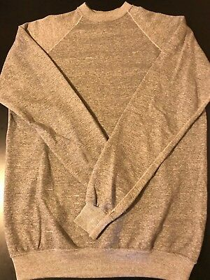 Vintage 80s Tri-Blend Heather Gray Grey Blank Plain XL Tall Sweatshirt