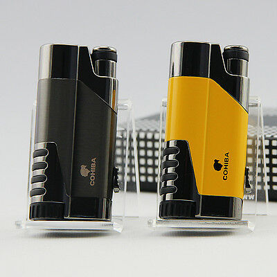 COHIBA Delica Metal 1 Torch Jet Flame Cigar Cigarette Lighter W/ Punch