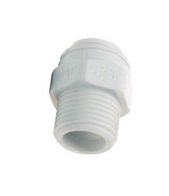 """John Guest PP010822W Quick Connect Male Connector 1/4"""" Tube X 1/4"""" MPT"""