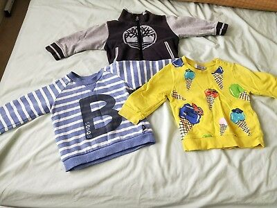 3 Baby Boy's Fury Autumn Top/Jumpers Bonds Timberland Blue Yellow Size 1