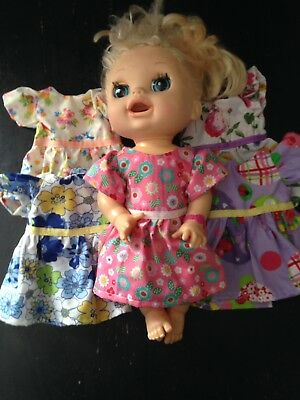 Homemade Baby Alive Dress - 5 Pattern Choices