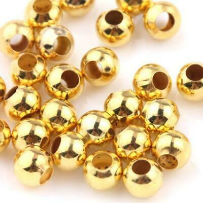 New Spacer Beads 6mm Pack of 10 - Gold - Wholesale Feathers & Craft Supplies