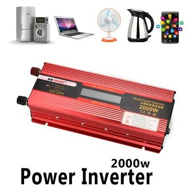 2000W Car LED Power Inverter Converter DC 12V/24V To AC 110V/220V USB Charger