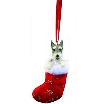 Schnauzer Santa's Little Pals Dog Christmas Ornament