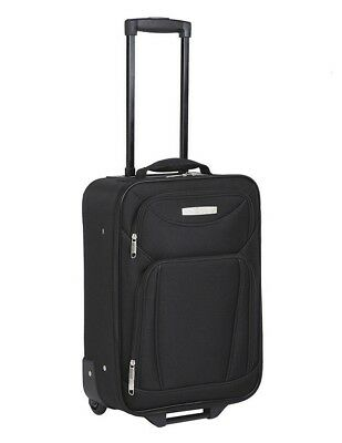 45cm Soft Case Carry On Travel Luggage Cabin Suitcase Roll Wheels Lightweight