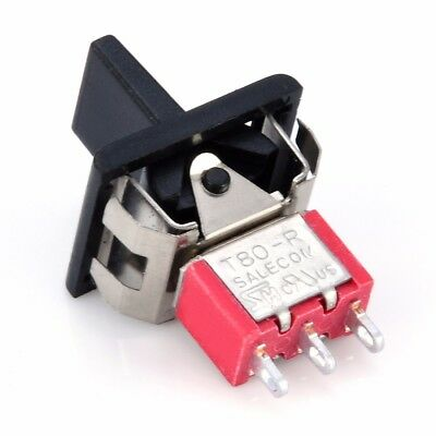 T80-R 3 Pin 3 Position Momentary ON-OFF-ON SPDT Mini Paddle Toggle Switch Kit