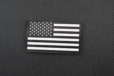 Infrared US Flag Patch Black & White Police SWAT LEO Security VELCRO® Brand