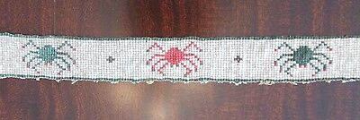Antique Native American Headband / Hatband w. SPIDERS! rare piece