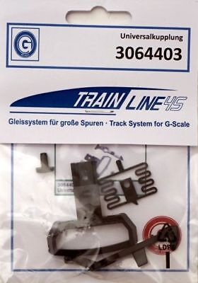 Train Line 45 Coupling Set with Hook, One Pin, Spring and Curve, for LGB Spu