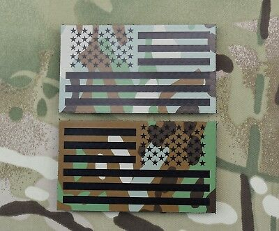 Infrared Printed Multicam IR US Flag Patch Set US Army Special Forces Rangers