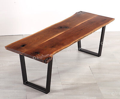 Antique Irregular Solid Wood Living Room Long Dining Table Coffee kitchen Table