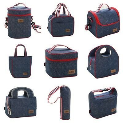 Portable Insulated Thermal Cooler Lunch Box Bento Tote Picnic Storage Bag Case