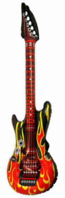 Inflatable Flame Air Guitar - Blow Up Fancy Dress Rock&Roll Party Musical Disco