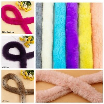 1 Meter Trim Trimming Artificial Rabbit Fur Tapes Fluffy Sewing Costume Crafts