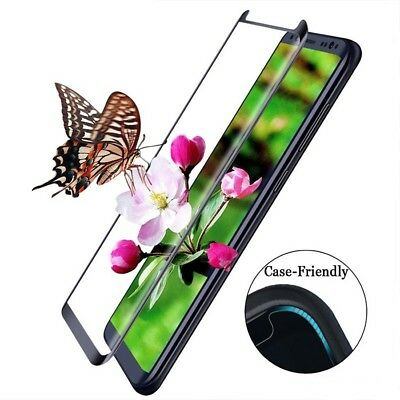 3D Curved Case-Friendly Samsung Galaxy S9,S8/Note 8/S6 S7 Edge Tempered Glass