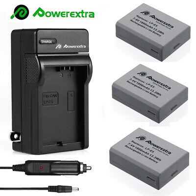 NP-FW50 Battery for Sony Alpha A6000 A6300 A6500 A7r 7R + LCD Dual USB Charger