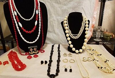 HUGE LOT OF VTG-NOW JEWELRY- 1 Signed Monet Lot #1