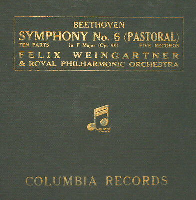 ROYAL PHILHARM. & WEINGARTNER Beethoven: Symphony No. 6 F-Dur Op. 68 78rpm  A265